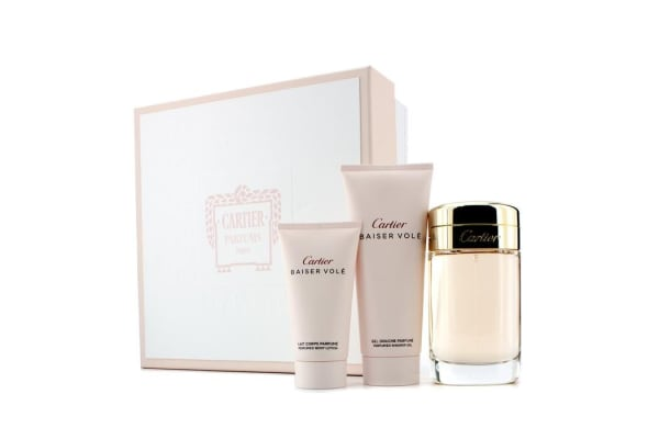 Cartier Baiser Vole Coffret: Eau De Parfum Spray 100ml/3.3oz + Shower Gel 100ml/3.3oz + Body Lotion 50ml/1.6oz (3pcs)