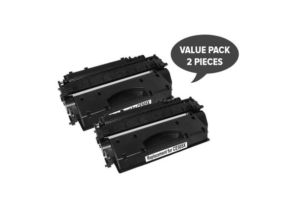 CE505X HP #05X Cart 319ii Black Premium Generic Toner (Set of 2)