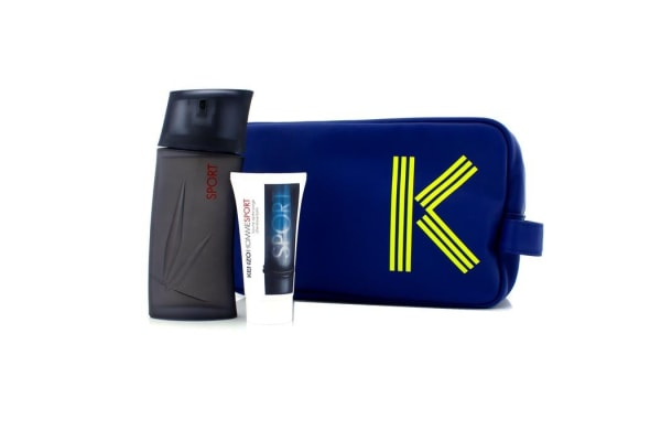 Kenzo Homme Sport Coffret: Eau De Toilette Spray 100ml/3.4oz + After Shave Balm 50ml/1.7oz + Fashion Pouch (2pcs+1pouch)