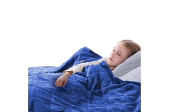 DreamZ 2KG Kids Anti Anxiety Weighted Blanket Gravity Blankets Blue Colour