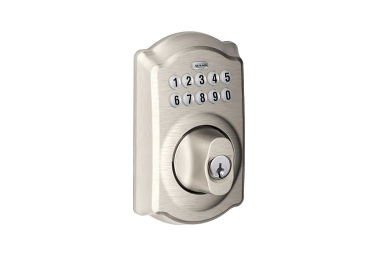 Schlage Connected Keypad Deadbolt with Camelot Trim (Satin Nickel)