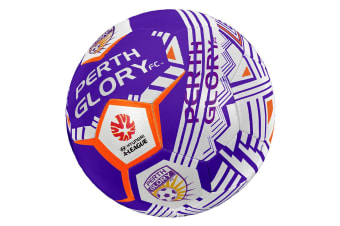 Summit Size 5 A-League Perth Glory Stitched PVC 30 Panel Soccerball Soccer