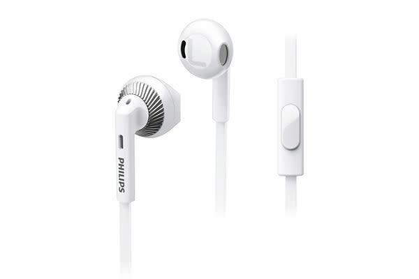 Philips In-Ear Headphones with Mic - White (SHE3205WT)