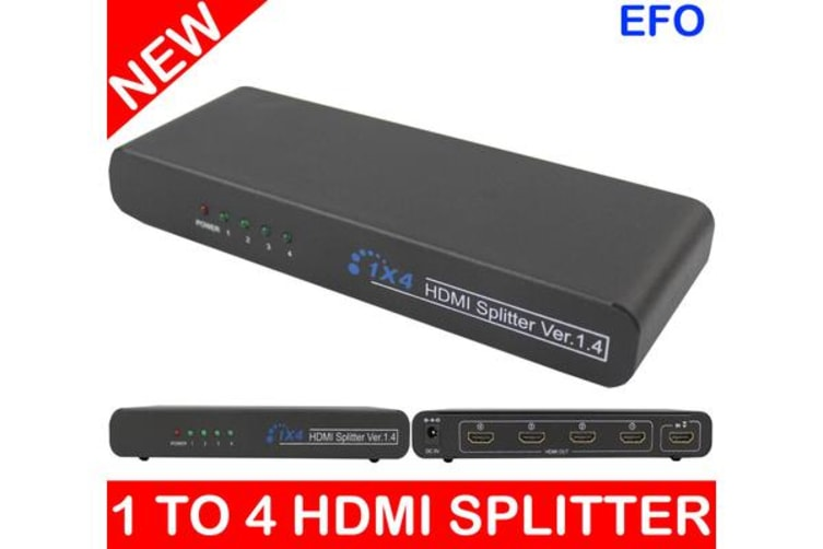 1 To 4 Hdmi Splitter Digital Amplifier Full Hd 1080P 1X4 (1 Input/4 Output)  104