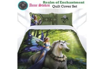 Anne Stokes Realm of Enchantment Quilt Cover Set King