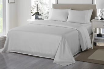 Royal Comfort 1200TC Ultrasoft Microfibre Bed Sheet Set (King, Silver)