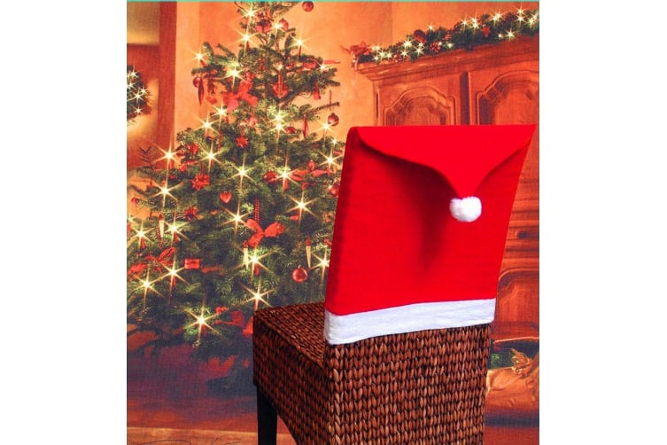 10 Christmas Chair Covers Dinner Table Santa Hat Home Decorations Ornaments Gift