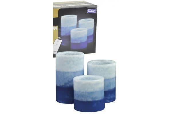 Remote Control Colour Candle Blueberry