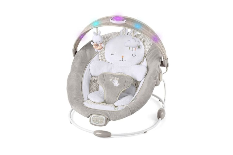 Ingenuity Inlighten Baby/Infant Bouncer/Rocking Chair w/ Sounds/Lights/Toy Bar