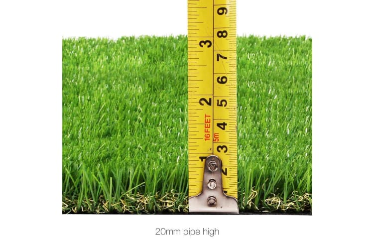 2m x 5m Synthetic Artificial Grass Turf Plastic Plant Fake Lawn 20mm
