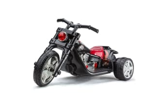 Black 3 Wheel Kids Ride-On Motorcycle