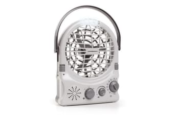 Companion Rechargeable Fan with Radio