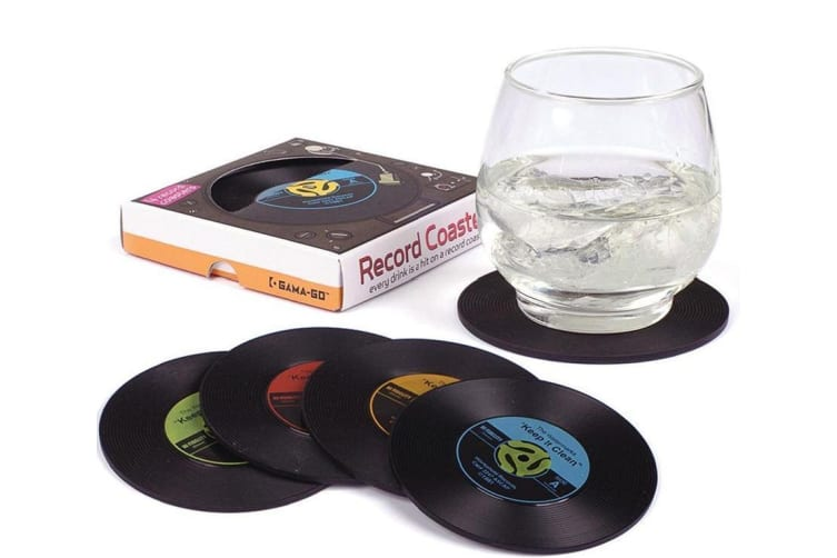 Set of 4 LP Record Coasters   They Look Just Like Records!   Gamago