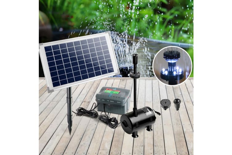 50W Solar Powered Pond Pump Battery Outdoor Water Submersible