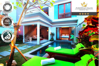 SEMINYAK: 3 or 5 Nights at Maharaja Villas & Spa in a Private Pool Villa