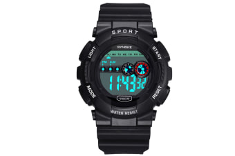 Camouflage Electronic Watch Men'S Multifunctional Outdoor Sports Watch Black