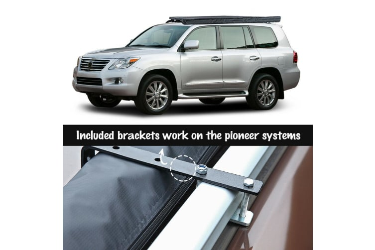 2.5X3M Car Side Awning Roof Rack Cover Tent Shades Outdoor Camping Waterproof