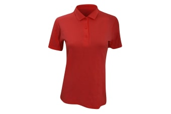Anvil Womens/Ladies Double Pique Semi-Fitted Polo Shirt (Red)