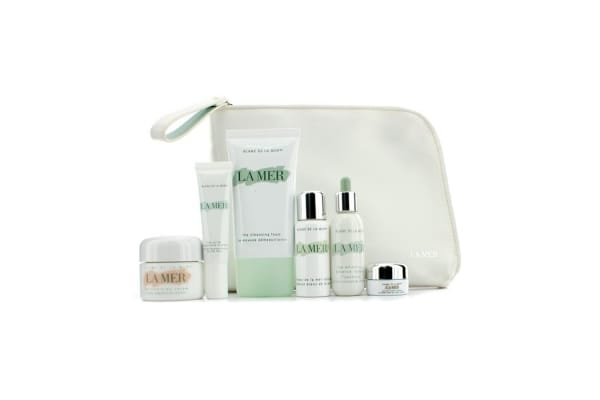 La Mer Light Source Collection: Cleansing Foam + Moisturizing Cream + La Mer Infusion + Essence Intense + UV Fluid + Eye Balm + Bag (6pcs+1bag)