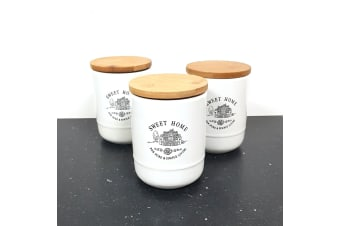 Classica Maison Set 3 Stoneware Canisters