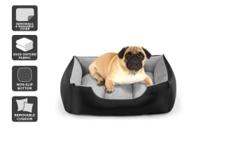 Pawever Pets Deluxe Fleece Dog Bed (Small / Medium)