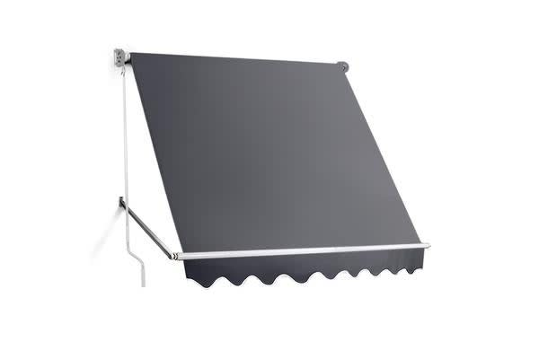2.1m x 2.1m Retractable Fixed Pivot Arm Awning (Grey)
