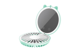 Led Lamp Usb Charging Beauty Mirror Colorful Ambient Lamp Neck Fan - Green Green 84X110X40Mm