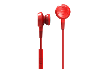 Fanny Wang Ear Buds In-ear Headphones- Red