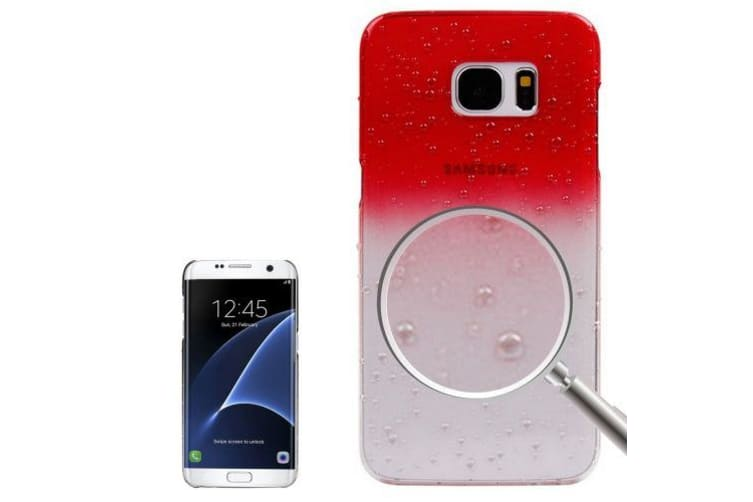 For Samsung Galaxy S7 EDGE Case Gradient Water Droplets Protective Cover Red