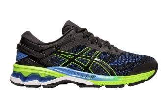 ASICS Men's Gel-Kayano 26 Running Shoe (Black/Electric Blue, Size 9.5 US)