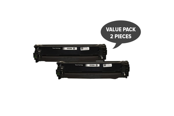 CE320 #128A Black Premium Generic Toner (Two Pack)