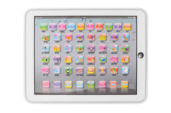 Select Mall Educational Toys Dot Reading Machine English Early Education Machine IPAD Tablet Learning Machine for Children-White