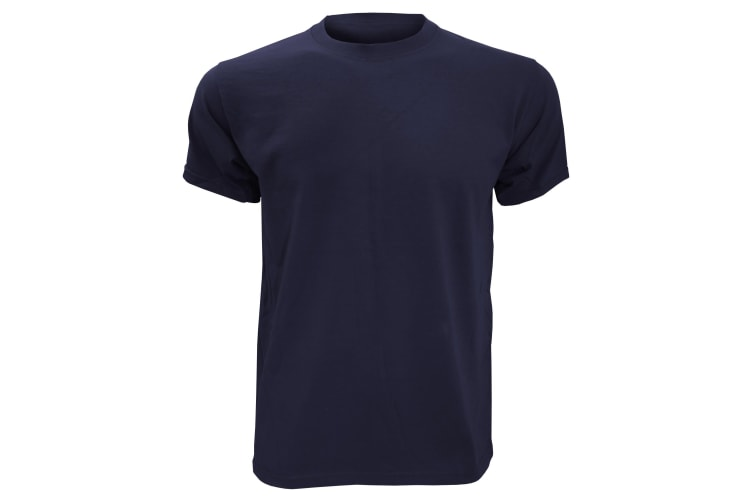 Fruit Of The Loom Mens Heavy Weight Belcoro® Cotton Short Sleeve T-Shirt (Navy) (L)