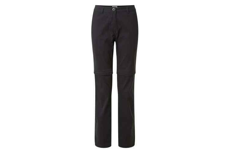 Craghoppers Womens/Ladies Kiwi Pro II Convertible Trousers (Black) (8S UK)