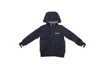Bench Childrens/Boys Choose Zip Up Casual Hoodie With Contrast Logo (Navy)
