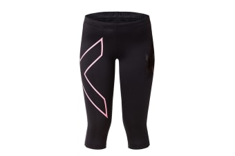 2XU Women's 3/4 Compression Tights G1 (Black/Baby Pink)