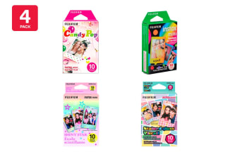 Fujifilm Instax Mini Film - 10 Sheets (Assorted 4 Pack)