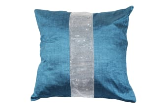 Panache Eclat Diamante Strip Cushion Cover In 8 Colours (Cushion Pad Not Included) (Teal)