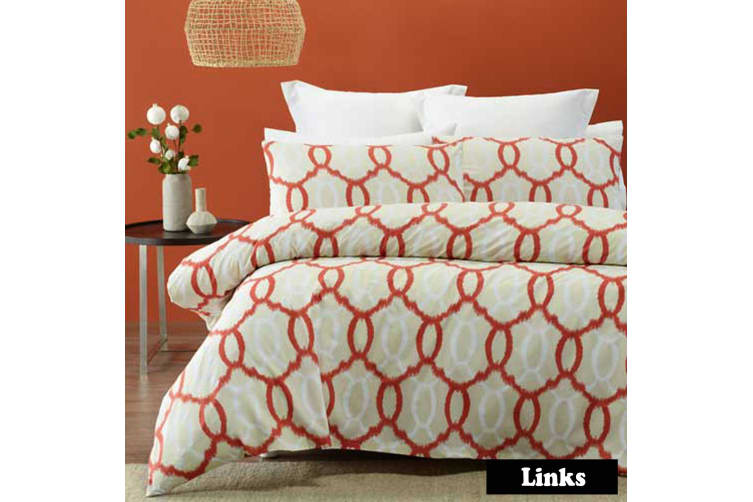 Links Quilt Cover Set DOUBLE