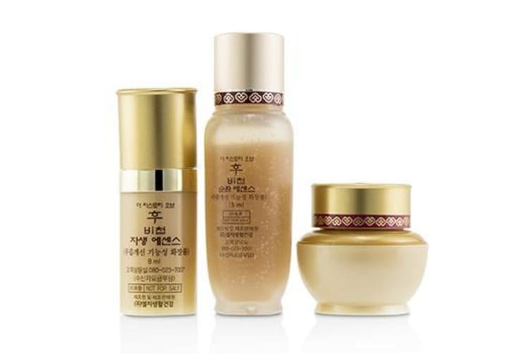Whoo (The History Of Whoo) Bichup Royal Anti-Aging Trial Set: 1x First Care Moisture Anti-Aging Essence  1x Self-Generating Anti-Aging Essence  1x Cream 3pcs