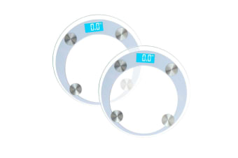 SOGA 2x 180kg Digital Fitness Weight Bathroom Gym Body Glass LCD Electronic Scales White
