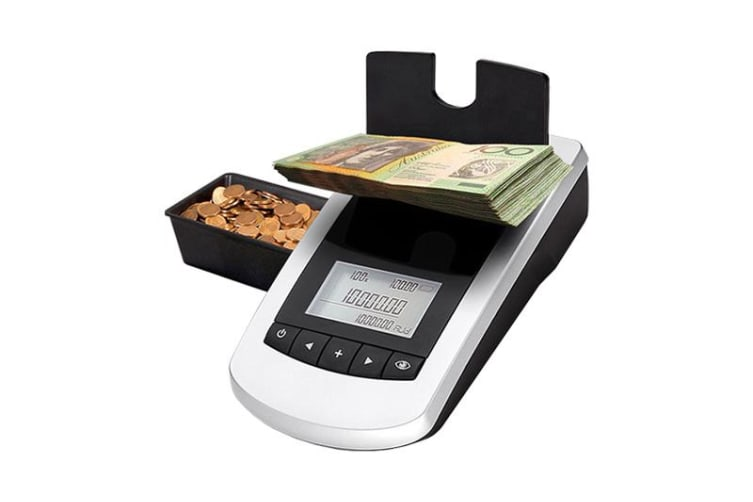 Money Counter for Coins and Banknotes Note Machine Scale