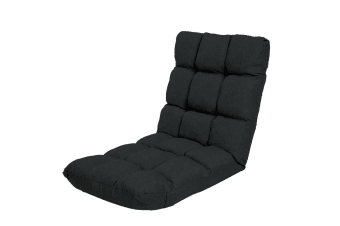 Adjustable  Floor Gaming Lounge Line  Chair 100 x 50 x 12cm - Black