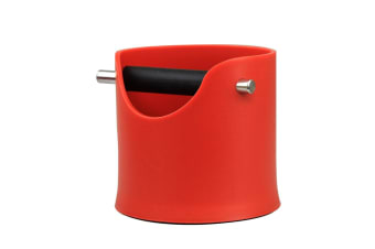 D.LINE Red Barista Espresso Coffee Knock Box for for  Grinds Tamper Waste Bin