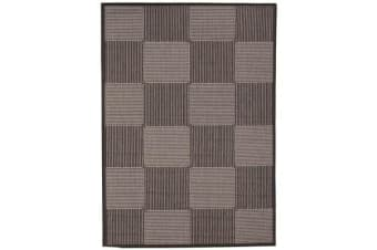 Witchery Indoor Outdoor Modern Black Rug 160X110cm