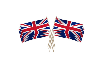 UK Union Jack Hand Flag (Pack of 25) (Red/White/Blue) (One Size)