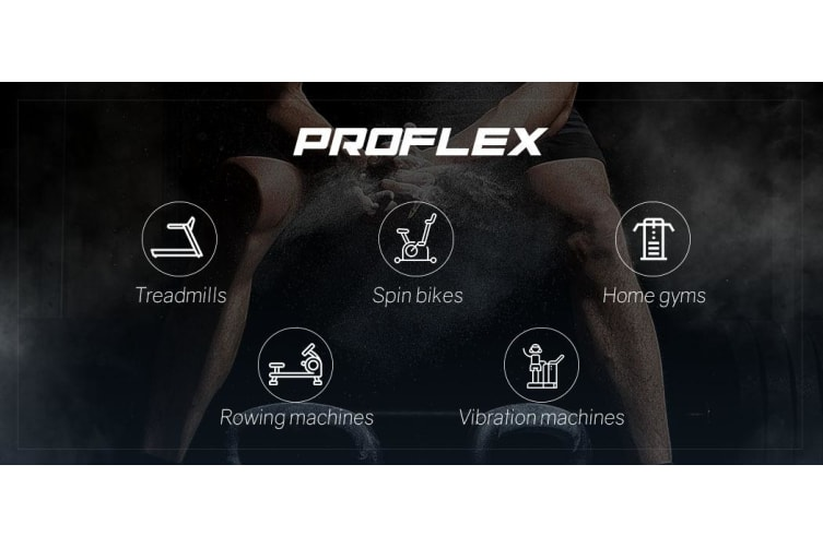 PROFLEX Air Bike Fan Resistance Exercise Fitness Bicycle Black Pulse Home Gym