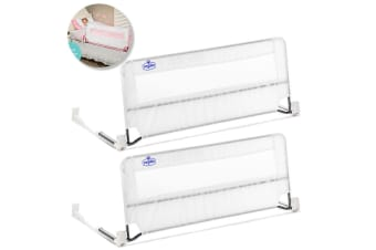 2x Regalo 109cm Swing Down Kids Bed Rail Child Safety Protection Bed Guard 2y+