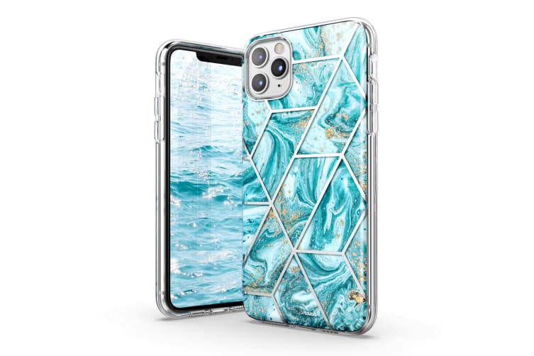 TITSHARK Marble Pattern Shockproof Tough High-quality stylish Case Cover For iPhone 11 Pro-Blue