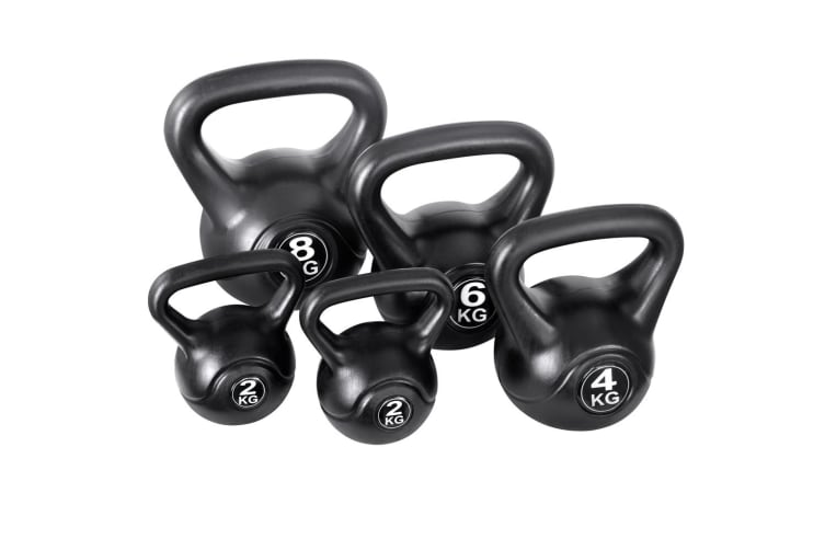 Everfit 22KG Kettlebell Kettle Bell Set Kit Weight Fitness Exercise Home Gym